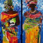 Afro tweeluik 100x120 cm te zien in Middelburg