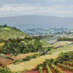 Toscane olie op paneel 20 x 40 cm