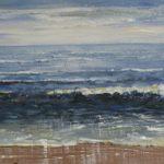Zee 30 x 120 acryl op doek te zien in Middelburg