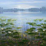 waterlelie 100 x 120 cm